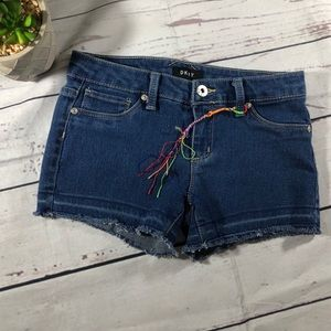 DKNY girl shorts size 12 raw hem